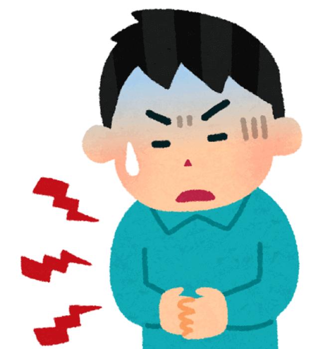 胃痛に苦しむ人
